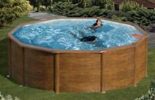Pool / Schwimmbecken Feeling Holzoptik rund mit Sandfilter Ø3x1 20m