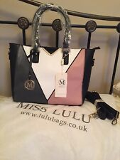 Miss Lulu Womens Ladies Large Handbag - Faux Leather - Shoulder - Tote Bag - New