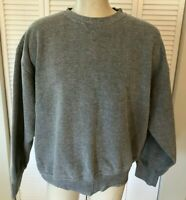 Orvis Men's XXL Gray Knit Sweatshirt Shirt Sweater with Leather Elbows