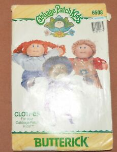 Cabbage Patch Kids Butterick Pattern 6508   OVERALLS  JUMPER  SHIRTS  CUT