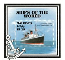 VINTAGE CLASSICS - Maldives 2230 - S.S. Queen Mary Ship - S/S - MNH