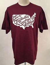 Loser Machine Men's T-Shirt Greaseballs Burgundy Size S NEW United States