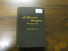 LIBRO IL MECCANICO CHAUFFEUR AUTOMOTORISTA   HOEPLI MILANO ANNO 1929 (107)