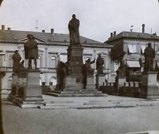 Martin Luther Monument in Worms, Germany, Magic Lantern Glass Photo Slide