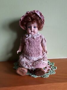 """Antique Small French Bisque Head/Composition Doll 10.5""""  TLC"""