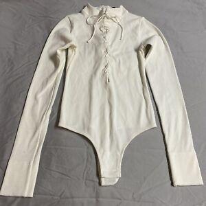 KIKI DE MONTPARNASSE Ivory  Style Bodysuit - Size Small.