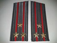 Soviet shoulder straps of the colonel of land forces of the Soviet Army USSR
