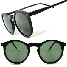 Classic Vintage Retro Old Fashioned Hipster Mens Womens Black Round Sunglasses