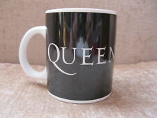 Queen rock band crest logo 2007 Productions black ceramic mug Freddie Mercury