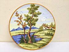 Piatto ceramica Bontempo dipinto a mano Francavilla Al Mare collezione