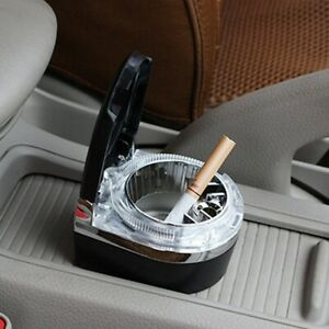 Portable Car Auto LED Cup Cylinder Holder Ashtray Travel Cigarette Smoke Ashtray