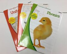 3 United States Dinosaur & Phonics Workbooks Teacher Supply Resources Grade K-2