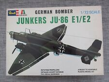 REVELL ITALERI H2015 - GERMAN JUNKERS JU-86 E1/E2 - RARE 1/72 SCALE MODEL KIT