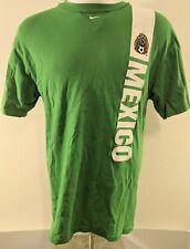 Mens Nike team Mexico short sleeve crew neck soccer jersey medium green white