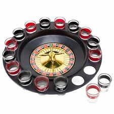 Roulette Drinking Game With 16 Black and Red Shot Glasses by Brewski Brothers