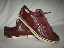 Ugg Australia 1000556 CORDOVAN Roxford Mens Sz 10 Bugundy Leather Casual Shoes