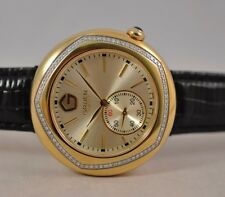 New Exotic Gruen Swiss GSS24-2 Made Gold Diamond Dial Sub Dial Watch