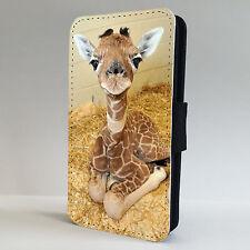 Jirafa bebé Teléfono Abatible de Animales de Vida Silvestre funda encaja todo IPHONE & SAMSUNG