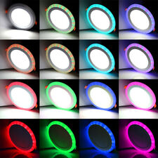 Round LED Ceiling Light Colorful RGB Recessed Panel Downlight Bar Spot Lamp D27