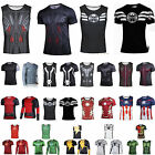 Marvel Mens DC Comic Compression Tank Tops T-shirts Costume Cycling Gym Cosplay