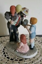 """Vintage Emmett Kelly Jr. Porcelain Clown Figurine """"Making New Friends"""""""