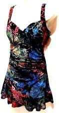plus sz XXS 12 TS TAKING SHAPE Floral Lush Tummy Control bathers swimwear NWT!