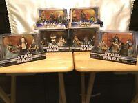Star Wars Action Figures Jedi High Council Scene 1-4 & Scene 1-2 Complete Set