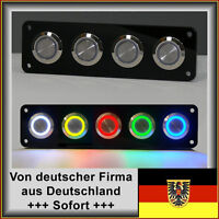 18mm Drucktaster LED rot Klingelknopf Hupe Edelstahl, Wasserdicht IP67