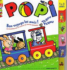 POPI  N° 240 * Spécial Voyage Train Auto * Jeux * Imagier * jeune enfant 18 mois
