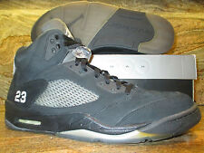 Nike Air Jordan 5 V Retro SZ 14 Wear Test Promo Sample Blackout Tokyo Black Ice
