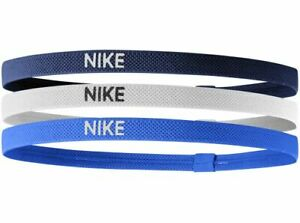 Nike Hairband Headband 3 Pack Sports Band Unisex Women Men New Black White Blue