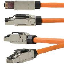 Netzwerk-Stecker CAT 6A CAT 7  Werkzeuglos RJ45 Stecker von  LogiLink