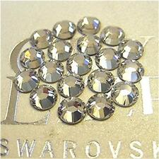 36 Swarovski Rhinestones Flatback CRYSTAL CLEAR Choose Your Size Style #2058