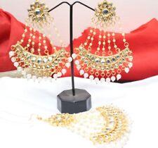 Indian Bollywood Wedding Maang Tikka Earring Set Partywear Ethnic Fashion Jewelr