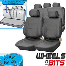Opel Vectra Astra UNIVERSAL BLACK PVC Leather Look Car Seat Covers Split Rears