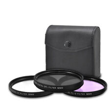 XIT Pro 52MM Lens Filter Kit UV CPL FLD for Canon, Nikon, Sony DSLR Cameras