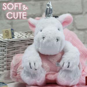 Baby Girls Cute Gift Set Unicorn Plush Toy and Blanket Set Baby Shower Present