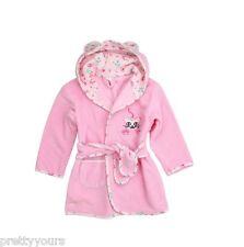 Boys Girls 100% Cotton Bathrobe Dressing Gown Housecoat Printed Trim and hood