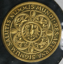 .999 Gold German Token - Hanlegulden - Res Aeterna Signum Salutis Nummis Mundi