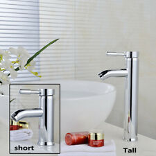 Deck Mount Chrome Bathroom Faucet  Stainless Steel Waterfall Sink Basin Mix Tap