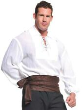 ADULT PIRATE COLONIAL RENAISSANCE WHITE LONG SLEEVE SHIRT COSTUME XXL UR29302