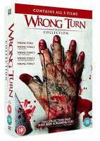 WRONG TURN 1 2 34 5 Collection Box Set DVD Left Dead Bloody Beginnings Bloodline