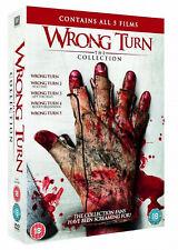 WRONG TURN 1-5 PART 1 234 5 Movie Film DVD Left Dead Bloody Beginnings Bloodline