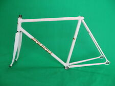 Stratos White NJS Keirin Frame Track Bike Fixed Gear Columbus Max Fork 52cm