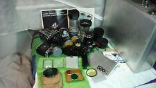Hasselblad 500C Professional Photographers System 1971 Case + 3 Lenses + Extras