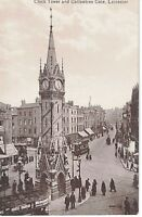 Postcard RPPC Leicester England Clock Tower Gallowtree Gate Valentine's Series