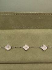 /Van Cleef & Arpels///Vintage Alhambra WG and Diamond 6 Motif Bracelet