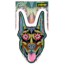 Doberman Dog Sticker Decal Car Window Laptop Sugar Skull Cali