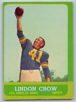 1963  LINDON CROW - Topps Football Card - # 45 - LOS ANGELES RAMS