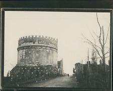 Italie, Rome,  Via Appia, Le mausolée de Cécilia Métella, ca.1900, Vintage silve